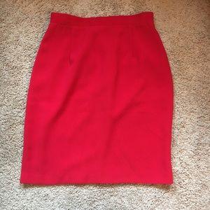 Vintage Papillon Red Pencil Skirt